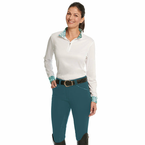 Ovation Ladies Destiny Super-X Grip Paisley Silicone Full Seat Breech