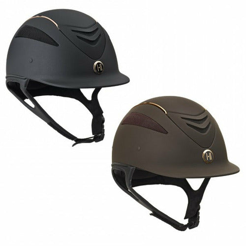 One K Defender Rose Gold Stripe Helmet - CarouselHorseTack.com