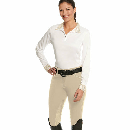 Ovation Ladies Destiny Super-X Grip Paisley Silicone Extended Knee Patch Breech