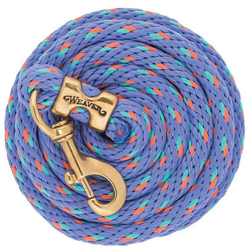 Weaver 10' Poly Lead Rope with Solid Brass Snap - CarouselHorseTack.com