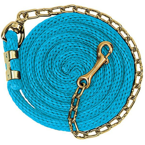 Weaver Poly Lead Rope with Brass Plated Swivel Chain 8+'