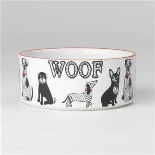 PetRageous Designs Retro Woof Dog Bowl - 3.5 cups