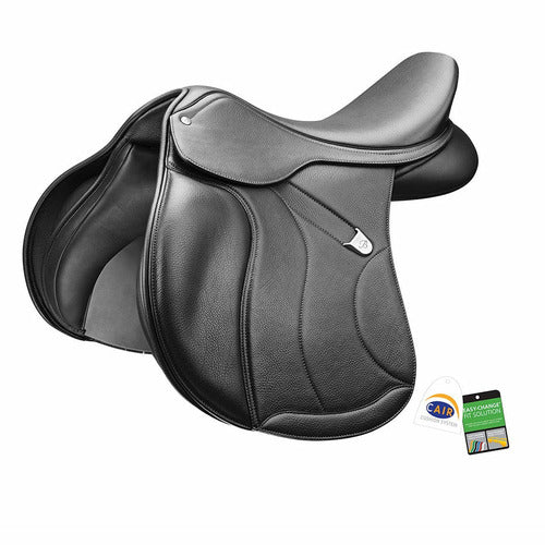 Bates All Purpose Square Cantle Plus Saddle with Luxe Leather - CarouselHorseTack.com