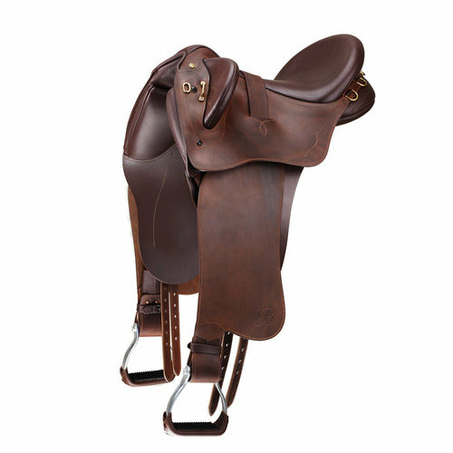 Bates Kimberley Outback CS Stock Saddle with Swinging Fender - CarouselHorseTack.com