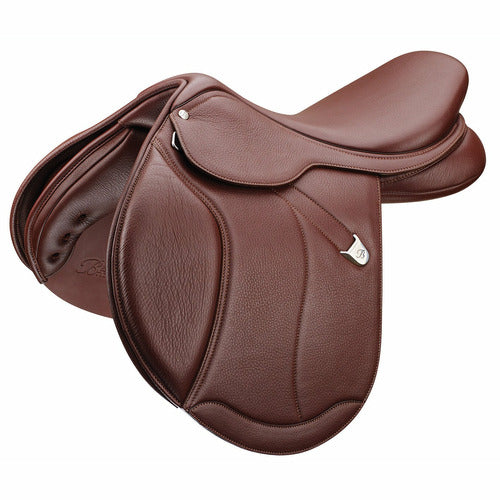 Bates Caprilli Close Contact Plus Saddle with Luxe Leather - CarouselHorseTack.com