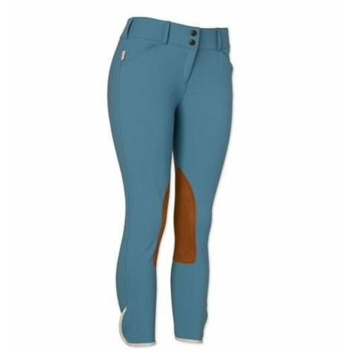 The Tailored Sportsman Ladies Vintage Contrast Patch Front Zip Mid Rise Breech - CarouselHorseTack.com