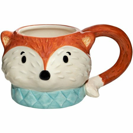 Handpainted Ceramic Fox Mug