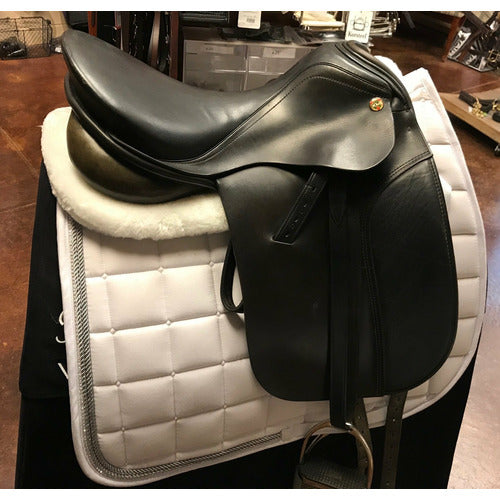 GENTLY USED- Karl Neidersub Olympik Settlemeister Dressage Saddle 16.5in