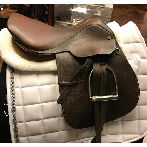 "Synergist Two Tone Trail Saddle - 16"" Wide Tree - Gently Used - CarouselHorseTack.com"