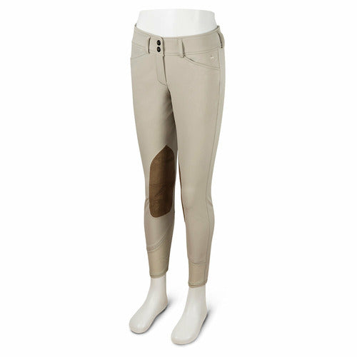 RJ Classics Girls Harrisburg Low Rise Front Zip Euroseat Breech - Sand