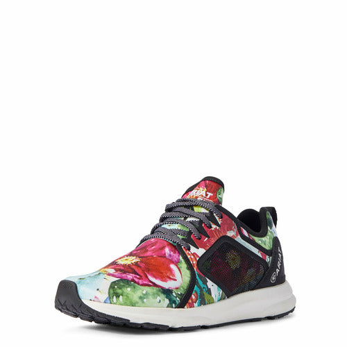 Ariat Ladies Fuse Mesh Athletic Shoe - Floral Cactus Print