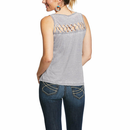 Ariat Ladies Sleeveless Freedom Tank - Heather Grey-CLOSEOUT