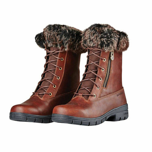 Dublin Bourne Lace Up Fur Boots