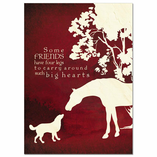 Four Legged Friends Sympathy Card