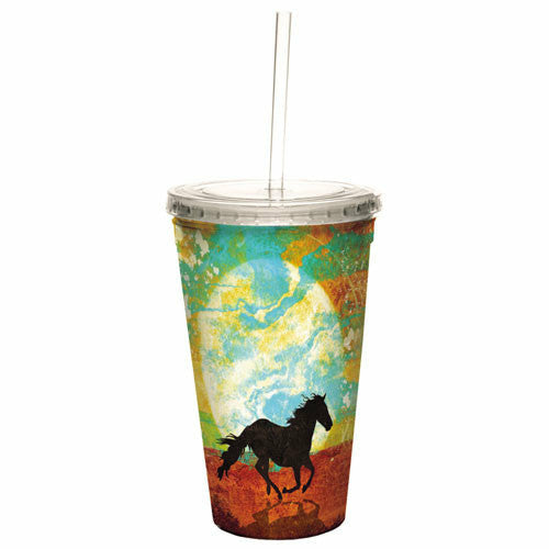 Artful Double Walled Cool Cup - Wind in Your Hair - CarouselHorseTack.com