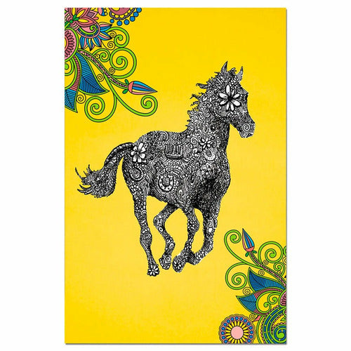 Golden Gallop Greeting Cards - 12 Pack