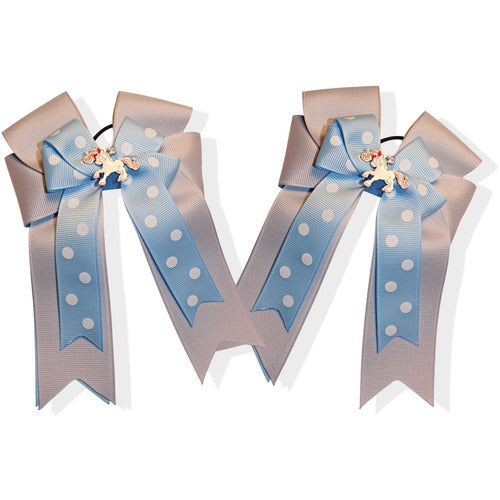Belle and Bow Equestrian Horseshow Hair Bows - Annabelle - Blue - Bows