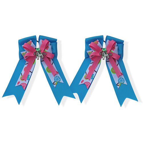 Belle and Bow Equestrian Horseshow Hair Bows - Lollipop - Bows