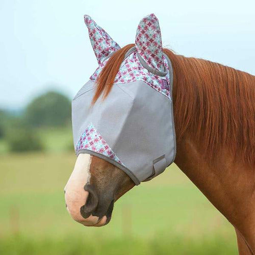 Cashel Crusader Patterned Standard Nose with Ears Fly Mask