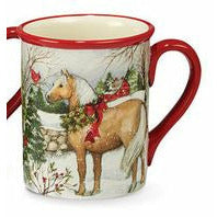 Winter Christmas Horse Coffee Mug
