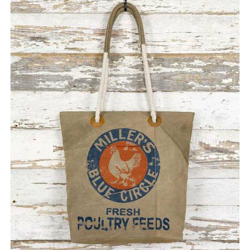 Colonial Tin Works Feed Sack Tote Bag - CarouselHorseTack.com