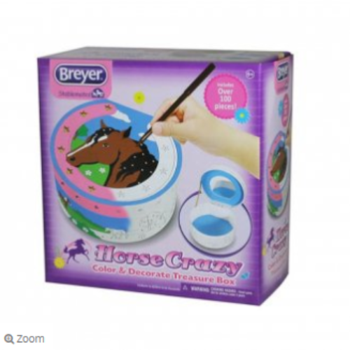 Breyer Horse Crazy Color and Decorate Treasure Box