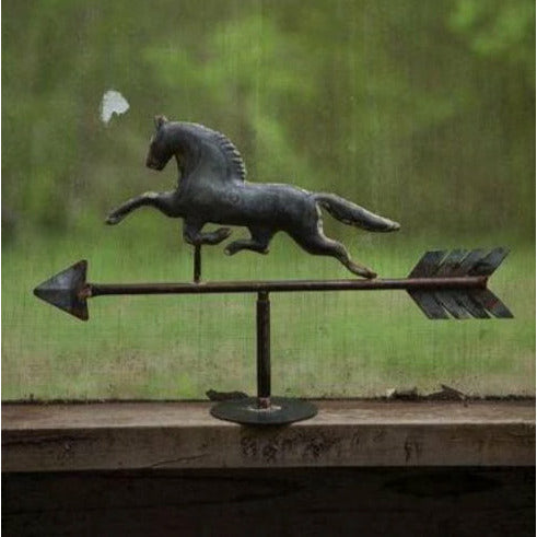 Kalalou Table Top Galvanized Horse Weather Vane - CarouselHorseTack.com