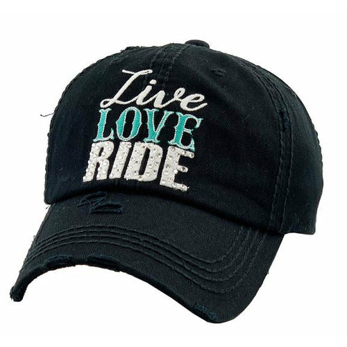 """Lila"" Live Love Ride Ladies Cap - Black"