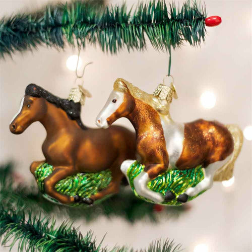 Old World Christmas Mustang Ornament - CarouselHorseTack.com
