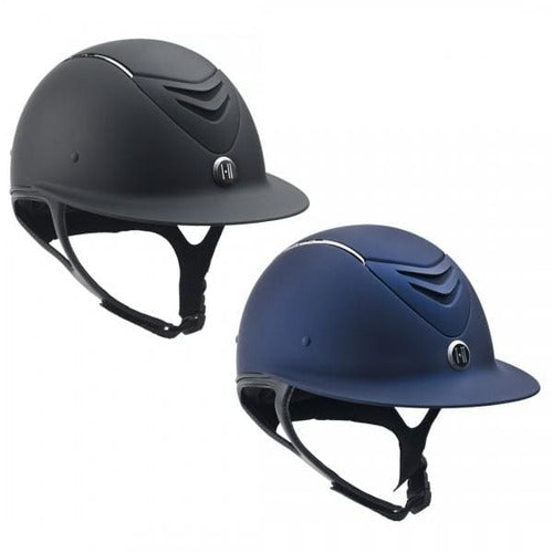 One K Defender AVANCE Wide Brim Chrome Stripe Helmet