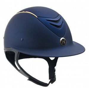 One K Defender AVANCE Wide Brim Rose Gold Stripe Helmet