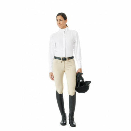 Ovation Celebrity Slim DX Euro Seat Front Zip Knee Patch Breeches - Ladies Long - CarouselHorseTack.com