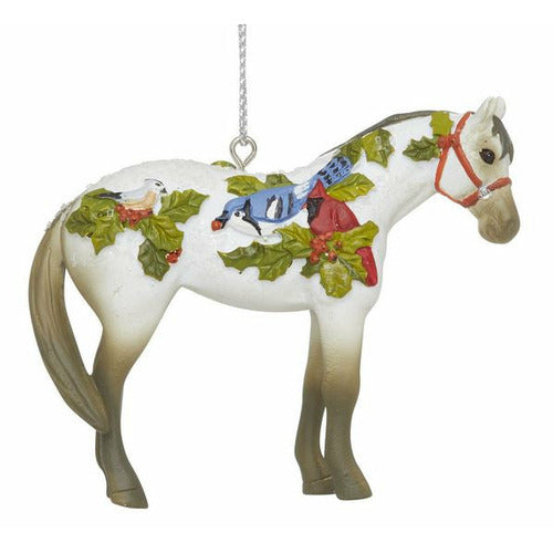 Painted Ponies 2020 Xmas Winter Feathers Ornament