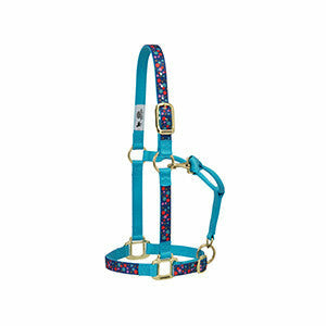 "Weaver Bubble Patterned Adjustable Chin & Throat Snap Halter, 1"" - CarouselHorseTack.com"