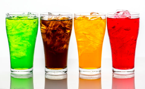 Brightly colored drinks