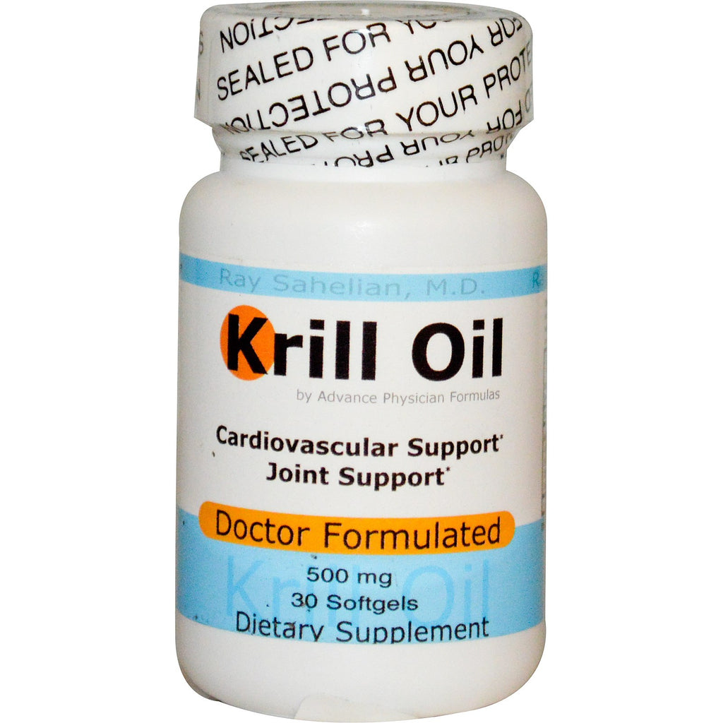 Krill oil 500 mg 30 softgels advance physician formulas for Fish oil with astaxanthin