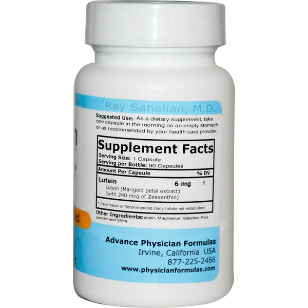 Lutein 6 Mg 60 Capsules Zeaxanthin Advance Physician