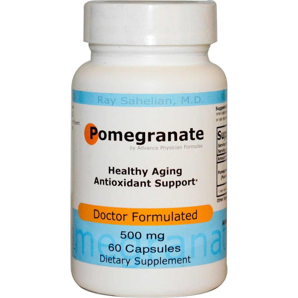 Pomegranate, 500 mg, 60 Capsules, Ellagic Acid