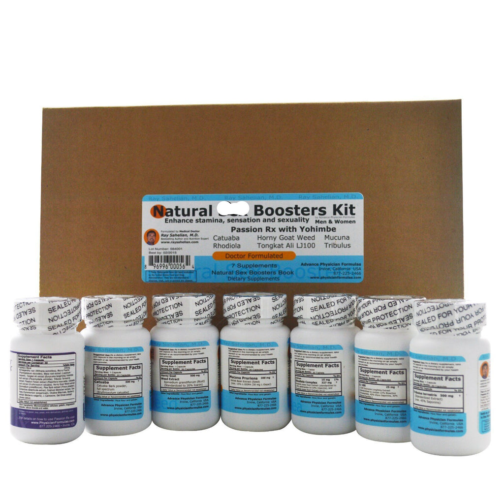 Natural Boosters for Men & Women, 8 Piece Kit