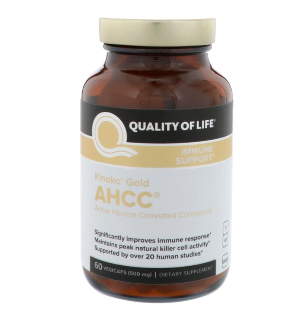 AHCC (Activated Hexose Correlated Compound), 500 mg, 60 Capsules, Immune Support