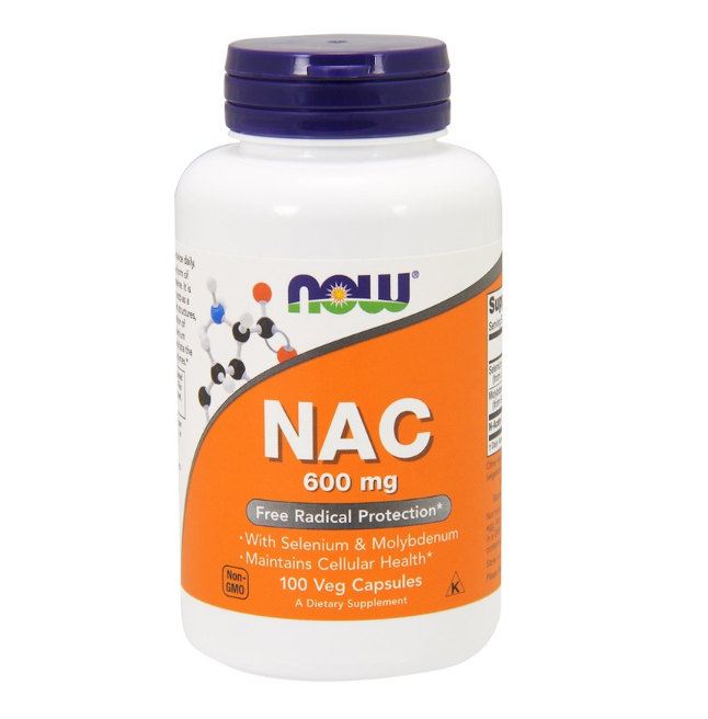 NAC (N-Acetyl-L-Cysteine), 600 mg, 100 Vegetable Capsules