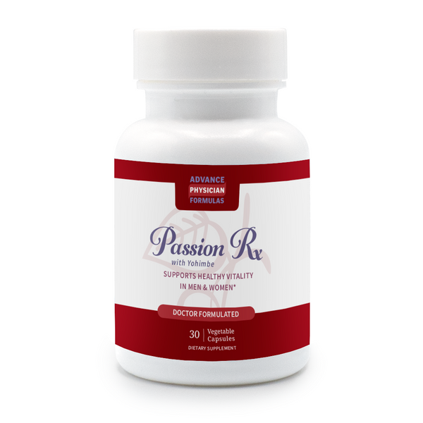 Passion Rx with Yohimbe: Enhancer for Men & Women, 30 Vegetable Capsules