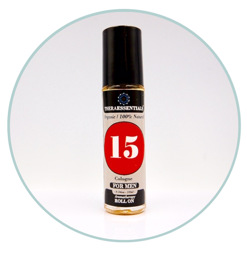 Mens Cologne -15 -Organic Aromatherapy Roll-On