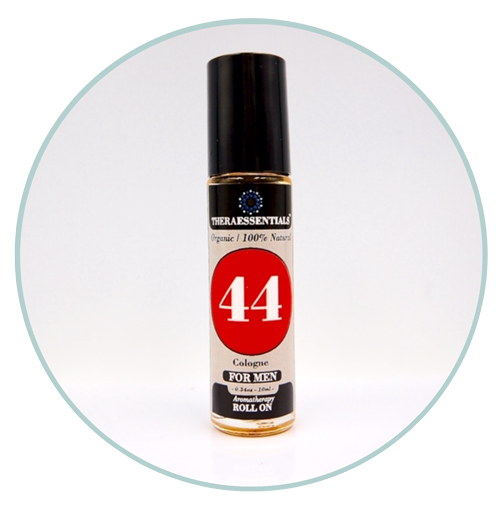 "Mens Organic Cologne/Aromatherapy Roll on- ""44"""
