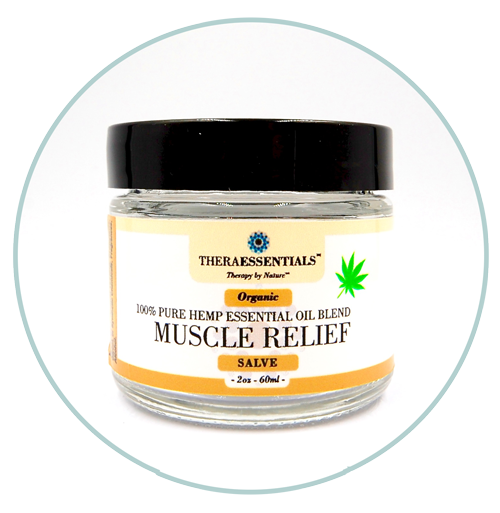 Salves - Organic Hemp essential oil Blend- Muscle Relief - 2oz. Jar