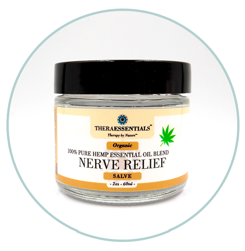 Salves - Organic Hemp Essential oil blend - Nerve Relief - 2oz. Jar