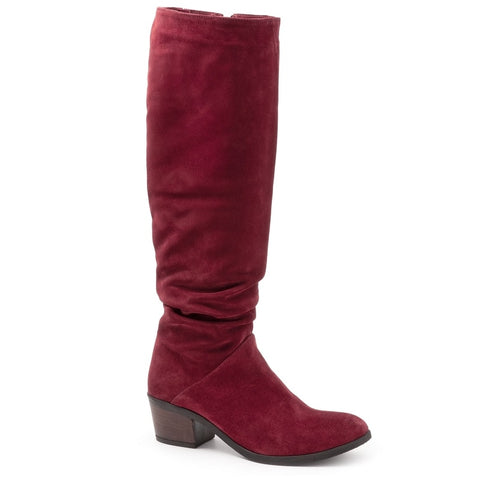 DEEP RED SUEDE