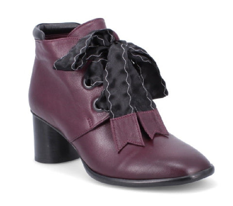 MERLOT AMALFI/BLACK LEATHER