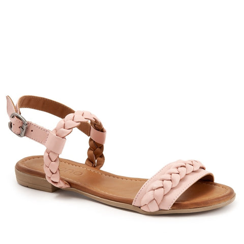 ALLOVER PALE PINK LEATHER