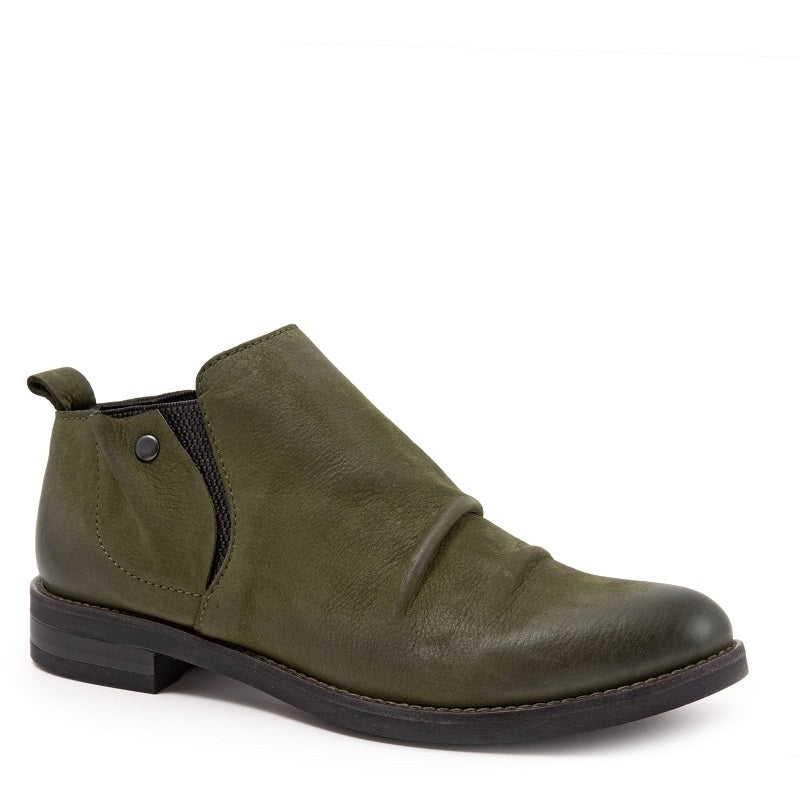 ARMY GREEN NUBUCK W/BLACK ELASTIC